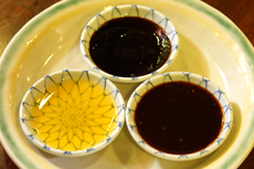3種類の味で北京ダックをお楽しみください